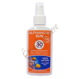 Lait spray solaire bio SPF30 Alphanova 125ml