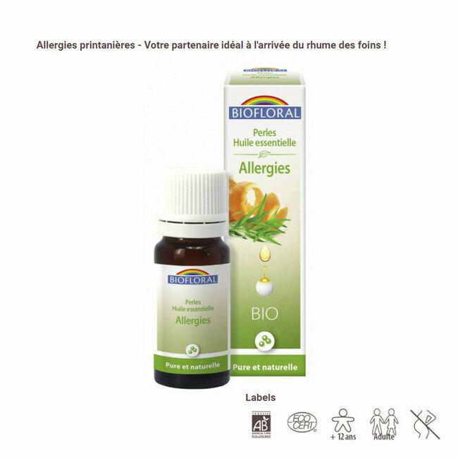 Perles huiles essentielles Allergies en granules Biofloral