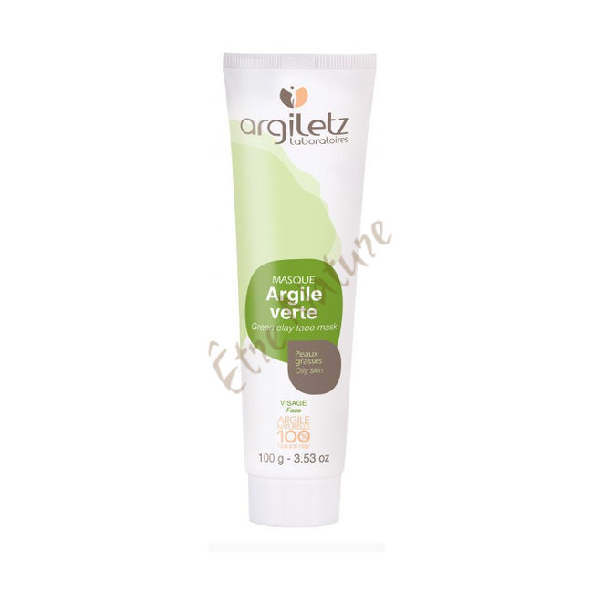 bien tre sant argiloth rapie masque l 39 argile verte peaux grasses argiletz 100ml. Black Bedroom Furniture Sets. Home Design Ideas