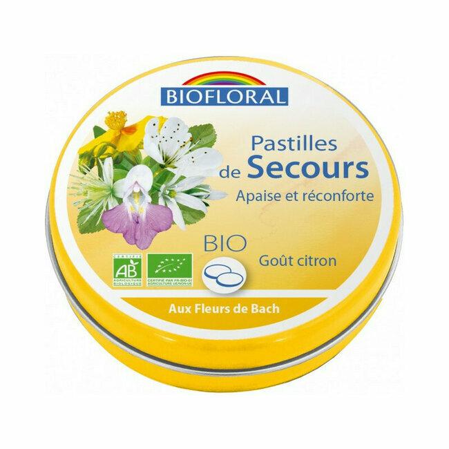 Pastilles De Secours Rescue Biofloral Aux Fleurs De Bach