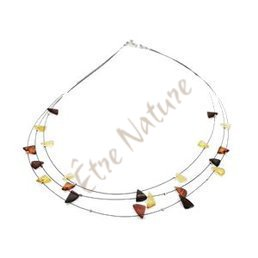 Collier Adulte Ambre Fantaisie Triangle