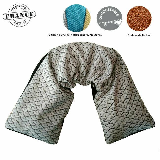 cale nuque coussin cervicales motif cercles coton et. Black Bedroom Furniture Sets. Home Design Ideas