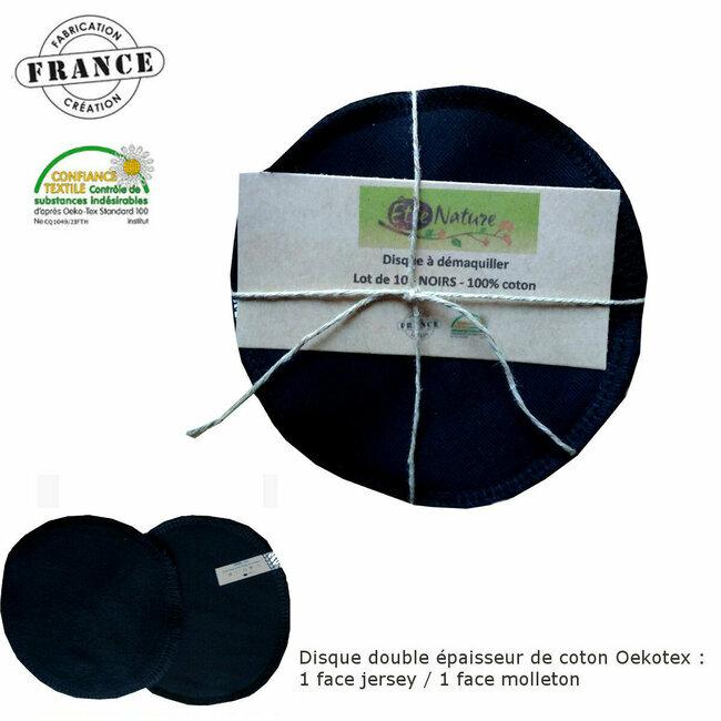 disque d maquiller lavable en coton noir 10. Black Bedroom Furniture Sets. Home Design Ideas