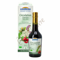Elixir d'Auvergne Circulation Digestion Tonus Biofloral 375ml